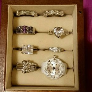 Jewelry - Lot of 8, Costume Jewelry Rings, Sizes 9.5 & 10